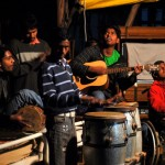 """Kids from the family houses also attend the two weekly church services at the Ashram, and a few of the teenagers play instruments in the """"house band."""""""