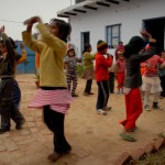 The kids at the Learning Center also know something about having fun, which includes a little bit of coordinated dancing…sorta.